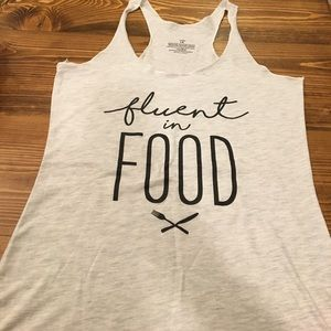 """Work out tank """"Fluent in Food"""" bundle only"""