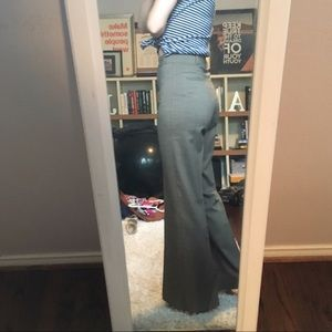 High waisted wide leg pants.