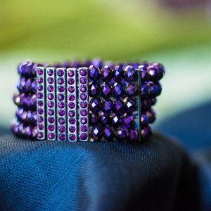 Beautiful Royal Purple Cuff Bracelet