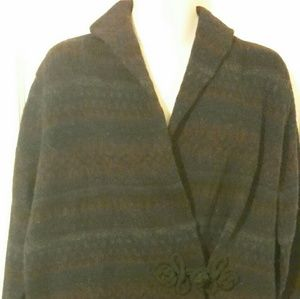 Fitted faer isle wool cardigan