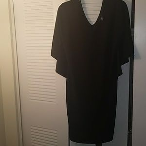 Plus size cape dress