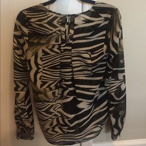 08a8849fa7 Patterson J. Kincaid Tops - Patterson J. Kincaid zebra print top