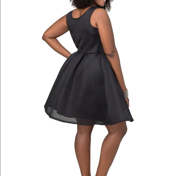 309a054955f Ashley Stewart Dresses   Skirts - Ashley Stewart Mesh Skater Dress