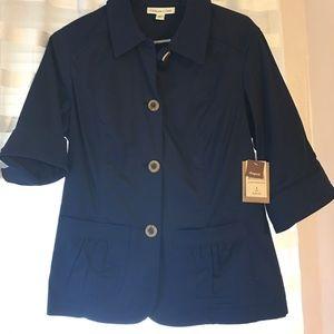 NWT Navy button up blazer