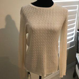 Ralph Lauren Silk cotton sweater in cream XL