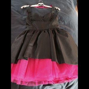 Betsey Johnson collection halter mini dress