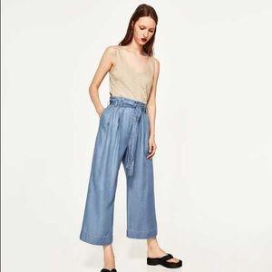 Zara Soft Denim Culottes