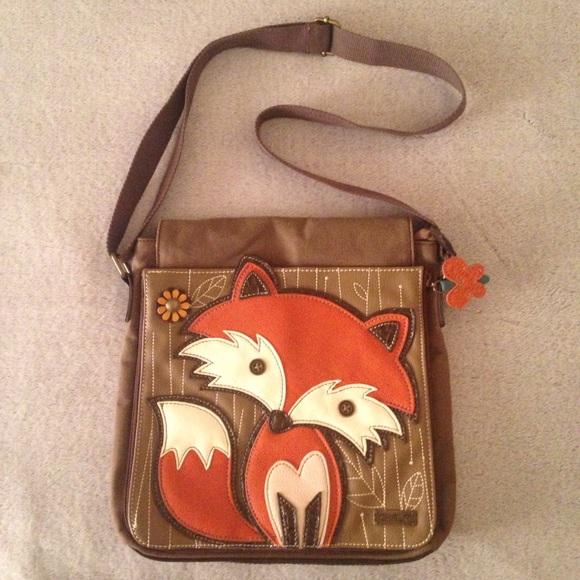 Chala Bags Nwot Fox Messenger Handbag Poshmark