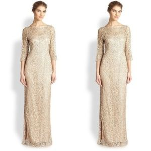 KAY UNGER LACE COCKTAIL GOWN