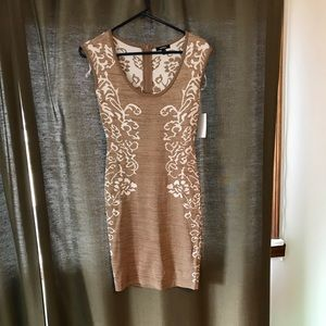 NWT XOXO Herbal Splendor bodycon Dress