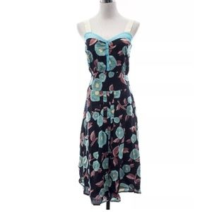 Marc Jacobs Floral Cotton Midi Dress Sz 4