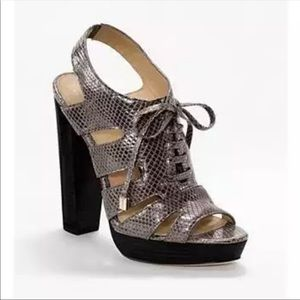 Coach Lace Up Platform Sandals 9 1/2