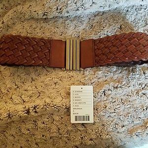 Anthropologie Braided Leather Belt