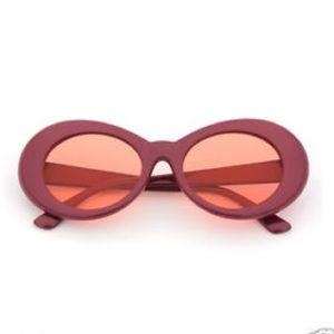 Kurt Cobain Nirvana Sunglasses UV400 Burgundy Red