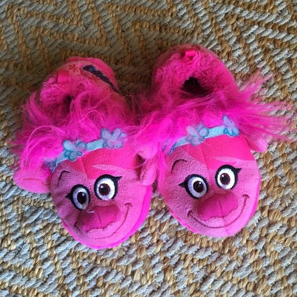 shoes little girls pink poppy troll slippers poshmark