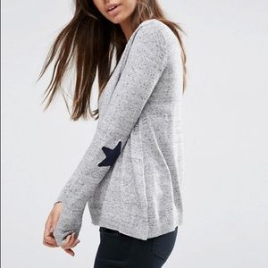 ASOS Gray Sweater Star Elbow Patches US SZ 8