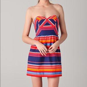 EUC! Shoshanna Frannie Striped Strapless Dress