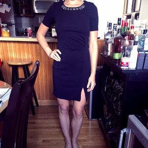 Jessica Simpson Little Black Dress with Jewels
