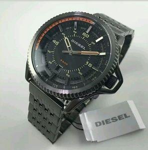 New! Diesel gunmetal stainless steel watch