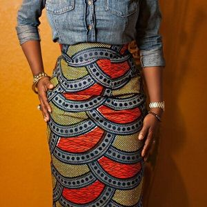 Dresses & Skirts - African Tribal Print pencil skirt 🎀🎀🎀