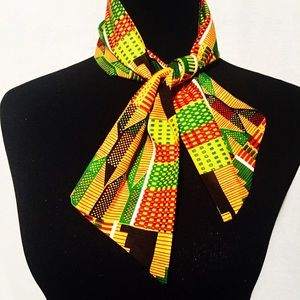 Neckit Accessories - African Kente Print Bow Tie Scarf