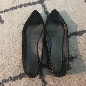 Black pointy flats size 8