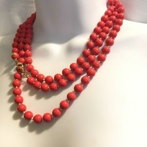 Jewelry - Super Long Beads Coral Acrylic