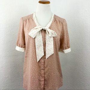 Jason Wu for Target pink polka dot blouse size Med