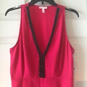 NWOT Pink beaded neckline dress size Large