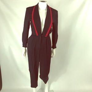 Vintage 70s deep V jumpsuit size 4