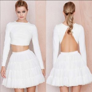 M.A.C x Stunner Crop Top In Ivory