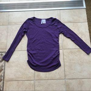Planet Motherhood purple long sleeve top