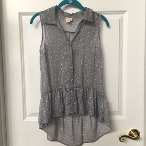 Sheer tank top with adorable bunny pattern.