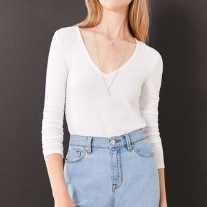 Urban Outfitters Eclipse V-Neck Tee