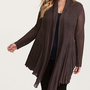 Mix Stitch Fit and Flare Cardigan NWOT