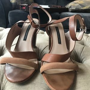 French Connection leather sandal