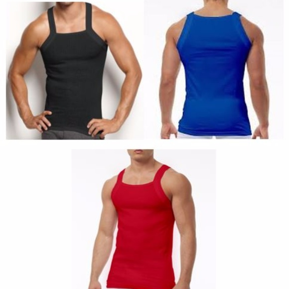 a6010d70eadecc Papi Men s Square Neck Tank Pure Cotton 3 Pack