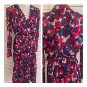 Fab Vintage Wrap Dress, Fall Vintage Wrap Dress