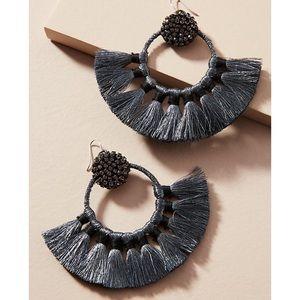 NWT Anthropologie Metallic Muse Hoop Earrings