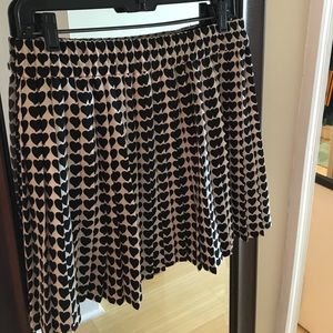 Pleated heart skirt from Zara