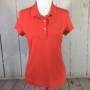 Lacoste Orange Alligator Polo Shirt Size XL 44