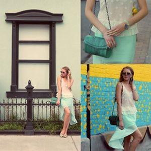 Zara turquoise high low flowey skirt
