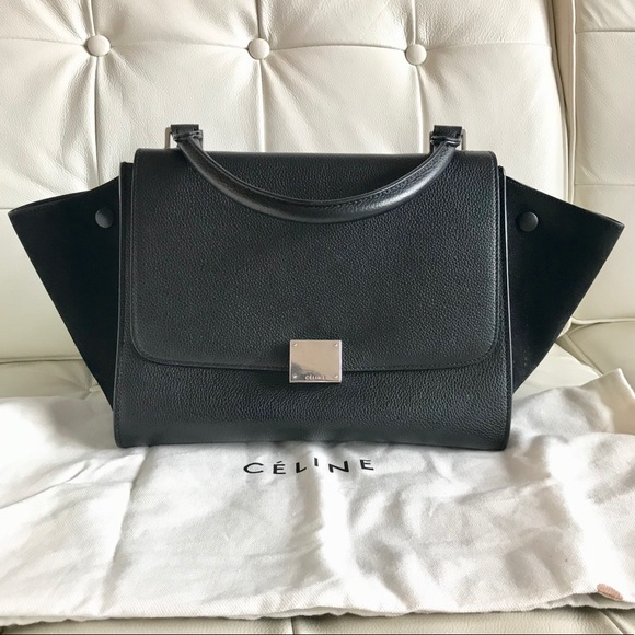 Celine Handbags - Black Celine Medium Trapeze Bag 159fb9c093d5a