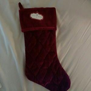 Dark red Christmas stocking (NWT)
