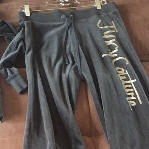 Dark Grey Juicy Velour Pants