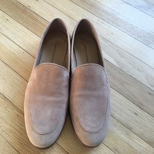 Banana Republic tan side loafers