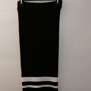 *ZARA*Knit striped MIDI skirt NWOT
