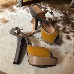 Franco Sarto Ankle Strap Heels (Sz 6)