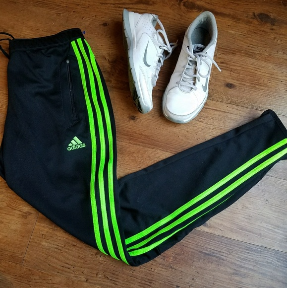 low priced e850a 2685a Adidas | Neon Green Striped Climacool Joggers