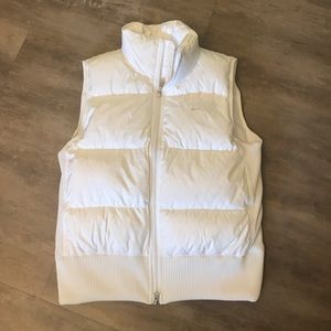 White Nike puffy vest